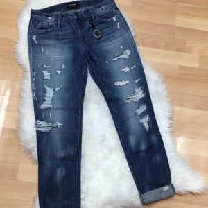 Black Orchid Distressed Boyfriend Jeans